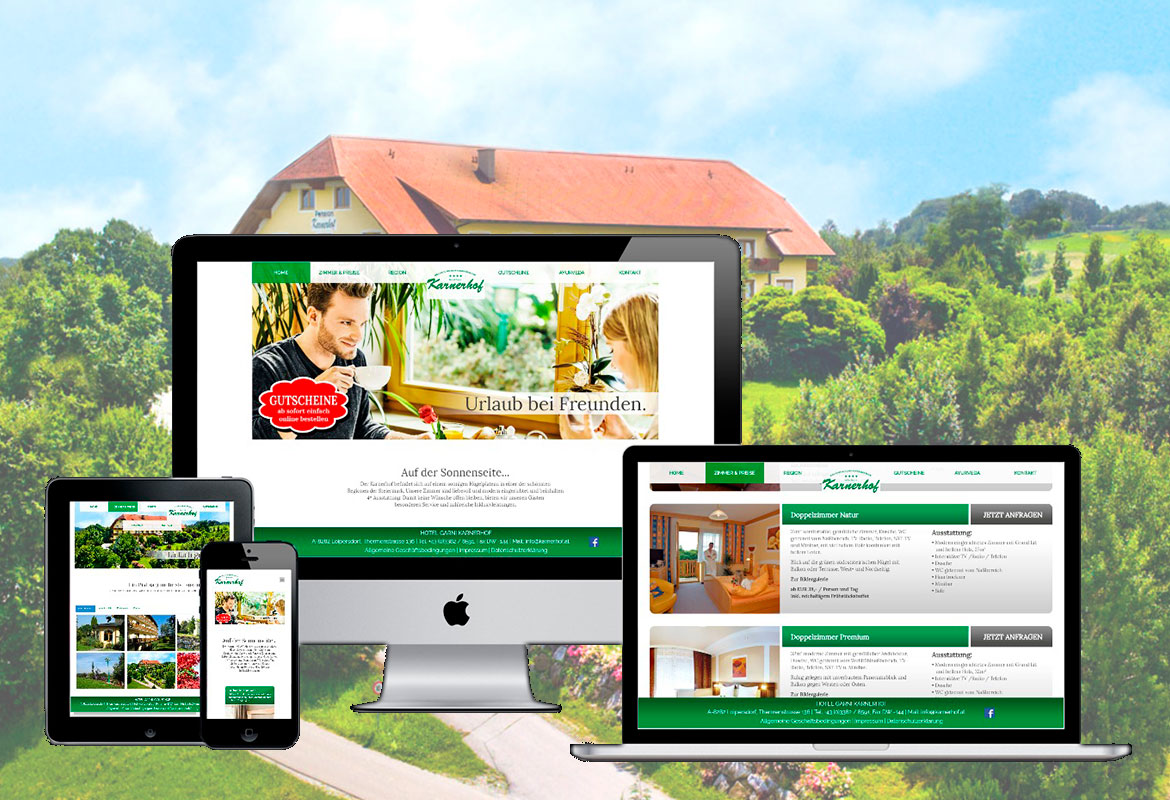 Hotel Garni KARNERHOF | Webdesign, Hosting & Domain